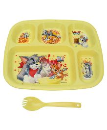 Tom and Jerry Partition Plate - Yellow