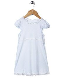 El Hogares Polka Dot Print Night Dress - Light Blue