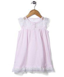 El Hogares Floral Detailing Dress - Pink