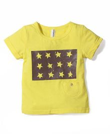 Baobaoshu Star Print T-Shirt - Yellow