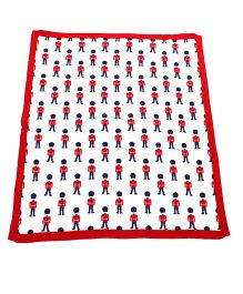 Rock A Bye Baby Boy Print Blanket - White