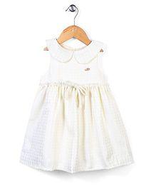 Little Wonder Sailor Collar Dress - Ivory