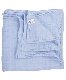 Hudson Baby Swaddle Wrapper - Blue