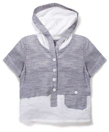 Candy Rush Hooded T-Shirt - Grey