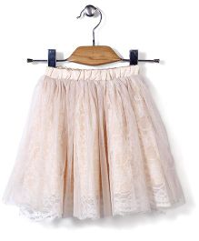 Candy Rush Natted Flower Skirt - Peach