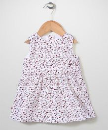 Miss Pretty Floral Dress - White