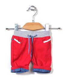 Candy Hearts Casual Shorts - Red