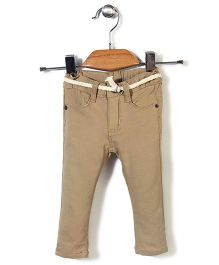 Candy Hearts Casual Pants - Beige