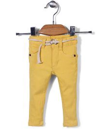 Candy Hearts Casual Pants - Yellow