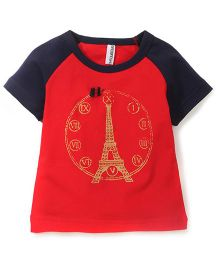 Baobaoshu Tower Print T-shirt - Red