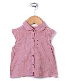 Dreamcatcher Pretty Top With Flower Design - Pink