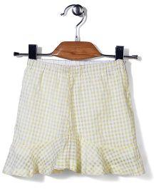 Candy Hearts Checks Skirt - Yellow