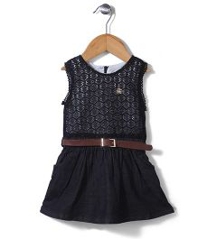 Dreamcatcher Dress With Belt - Black