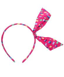 Stol'n Hair Band Bow Accent - Pink