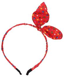 Stol'n Hair Band Bow Accent - Red