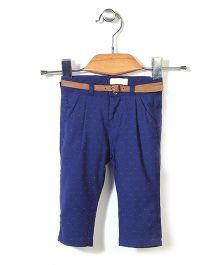 Dreamcatcher Stylish Pant With Belt - Blue
