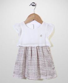 Dreamcatcher Short Sleeve Casual Dress - White