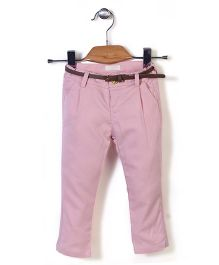 Dreamcatcher Pant With Belt - Pink