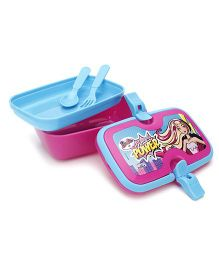 Barbie Lunch Box With Handle - Pink And Blue
