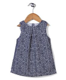Dreamcatcher Floral Casual Dress - Navy