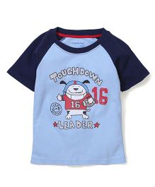 Poly Kids Cartoon Print Tee - Blue