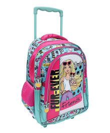 Barbie Furever School Trolley Bag Pink And Blue - 16 inches