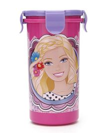 Barbie Tumbler With Clip on Lid Pink and Purple - 400 ml