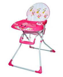 High Chair With Tray - Pink