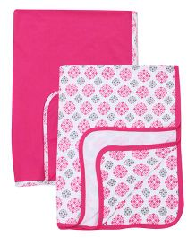 Yoga Sprout Printed Blanket - Pink