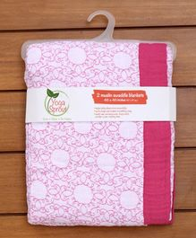 Yoga Sprout Blanket - Pink