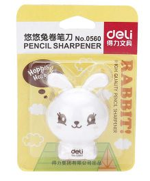 Deli Pencil Sharpener Rabbit Shape - White