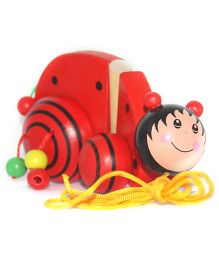 Playthings Wooden Pull Along Caterpillar