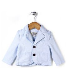 Elite Fashion Jacket With Front Pockets - Blue
