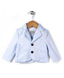 Elite Fashion Jacket With Front Pockets - Blue