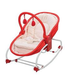 LuvLap 3 in 1 Rocker Napper With Musical Vibrations - Red 18207