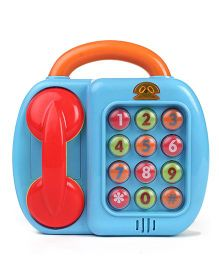 2 in 1 Telephone cum Piano Musical Toy - Blue Orange