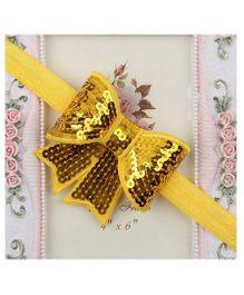 BabyZinnia Sequin Bowknot Elastic Headband - Yellow
