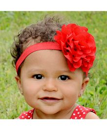 Akinos Kids Wavy Edge Hollow Out Red Flower Headband  - Red