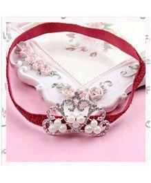 PinkXenia Princess Crown Headband - Maroon