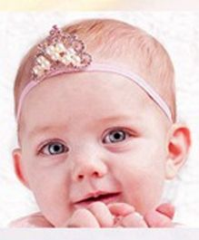 Akinos Kids Princess Crown Headband - Light Pink