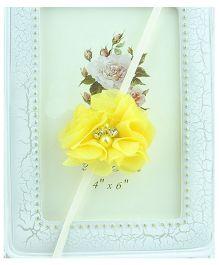 Akinos Kids  Soft Flower Headband Embllished With Pearl - Yellow