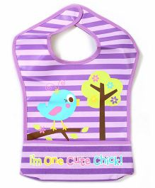 Luvable Friends Prince Cute Chick Print Bib - Purple