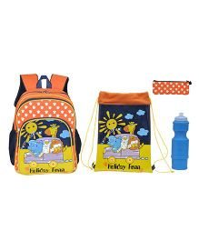 Avon Bags Holiday Fu School Backpack Combo Orange - 14 inches