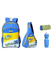 Avon Bags Bombers School Backpack Combo Royal Blue And Yellow - 18 inches