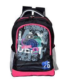 Avon Bags Highway Patrol Waterproof School Backpack Black And Pink - 18 Inches