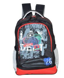 Avon Bags Highway Patrol Waterproof School Backpack Black And Red - 18 inches