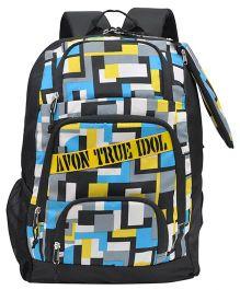 Avon Bags True Idol Waterproof Backpack Grey Blue - 18 inches
