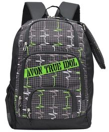 Avon Bags Waterproof ECG Print Backpack Green - 18 inches