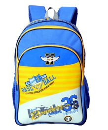 Avon Bombers Royal School Backpack Blue And Yellow - 18 inches