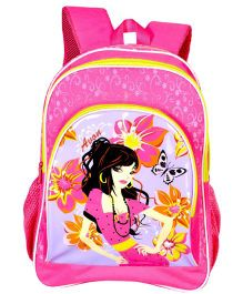 Avon Bags Butterfly School Backpack Pink - 16 inches